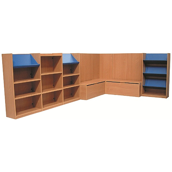 Nexus Large Library Corner Combination Bookcases