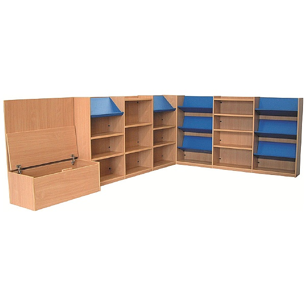 Nexus Extra Large Library Corner Combination Bookcases