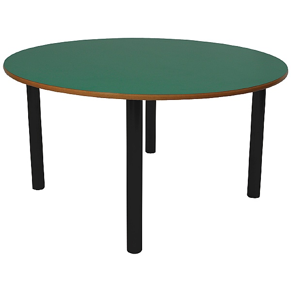 Scholar Black Frame Heavy Duty Circular Cylinder Legged Tables