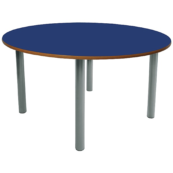 Scholar Light Grey Frame Heavy Duty Circular Cylinder Legged Tables