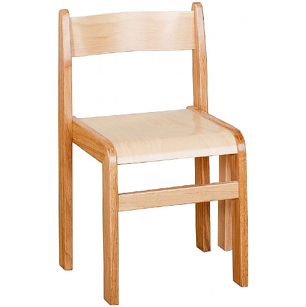 Natural Wooden Stacking Chairs (Pack of 2)