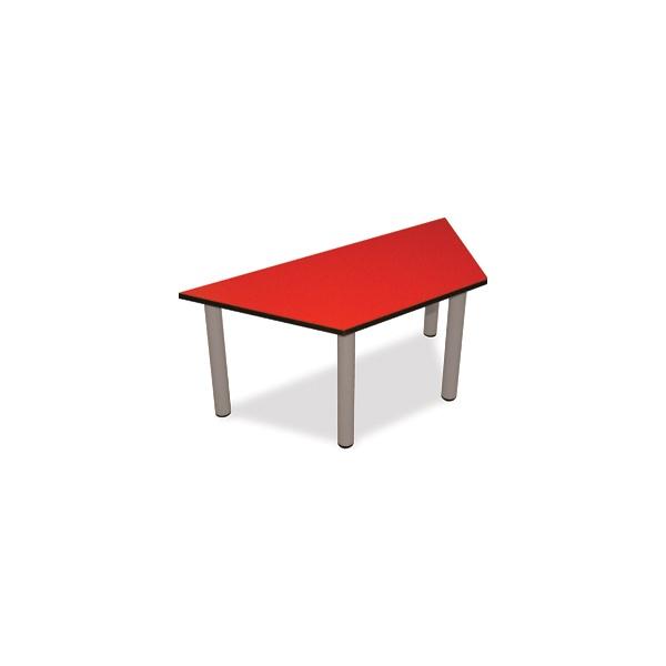 Scholar Light Grey Frame Heavy Duty Trapezoidal Cylinder Legged Tables