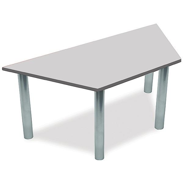 Scholar Silver Frame Super Heavy Duty Trapezoidal Cylinder Legged Tables