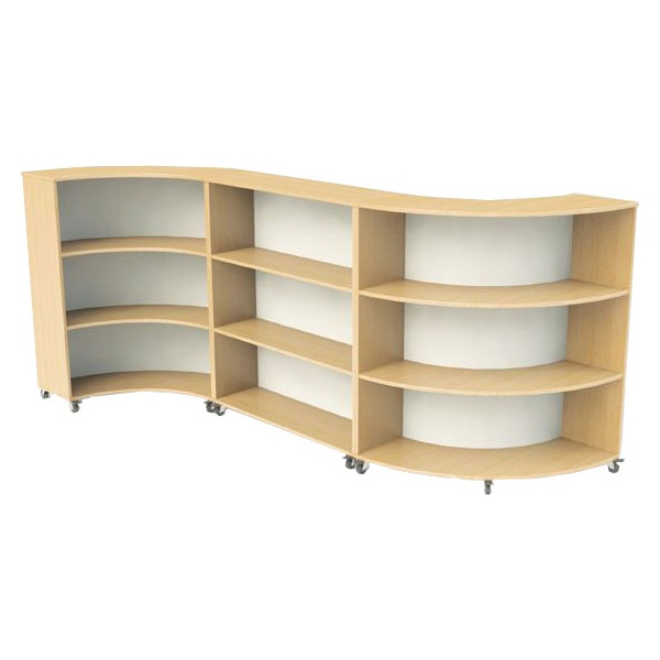 Nexus Curve Straight Bookcases