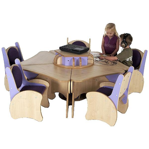 Pentagon Table & Chairs Listening Centre Bundle Deal