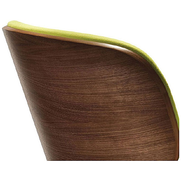 Pledge Spirit Lite Easy Chair With Wooden Shell & 4 Star Base