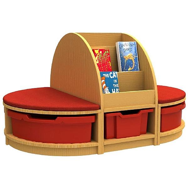 Curve Book & Seat Storage Island