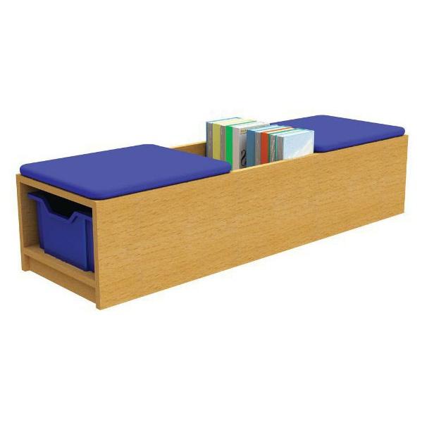 Curve Book & Seat Storage Unit