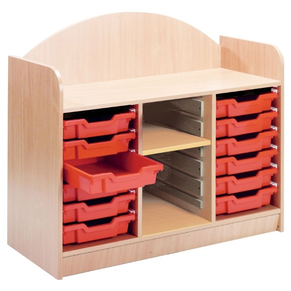 Stretton 12 Shallow Tray Storage Unit With Adjustable Shelf