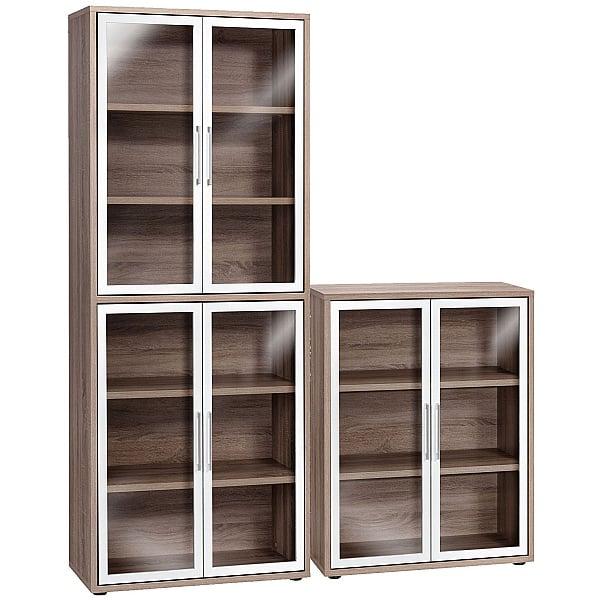 Venture in Harmony Glass Door Cupboards