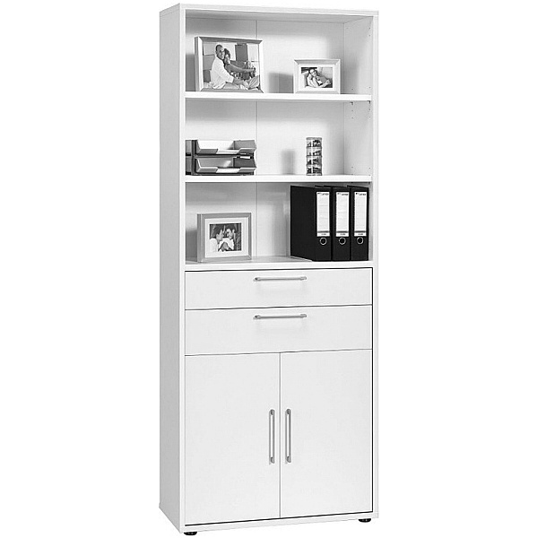 Venture in Harmony Tall Combination Cupboard With Drawers