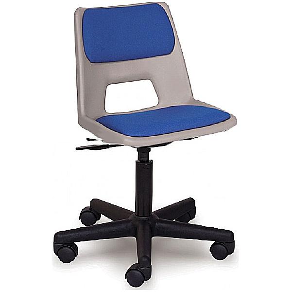 Scholar Mobile Padded Polypropylene Chair (Optional Glides)