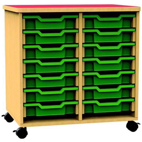 Funky Double Bay Mobile Shallow Tray Unit