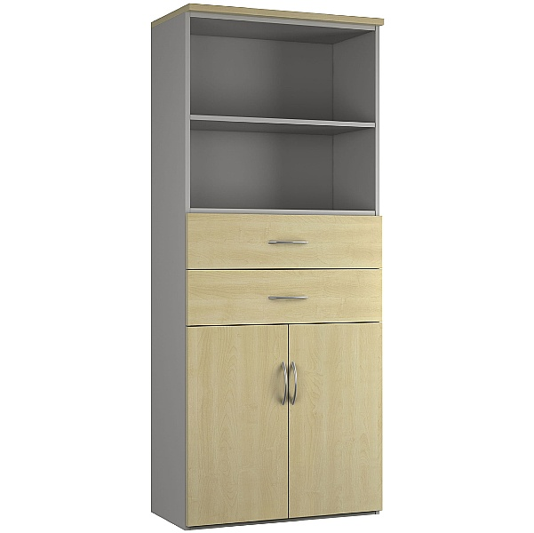 NEXT DAY Force Double Door Combination Cupboard With Drawers And Shelves