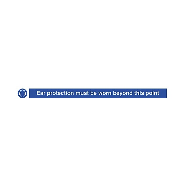 Ear Protection Must Be Worn Beyond This Point Sign