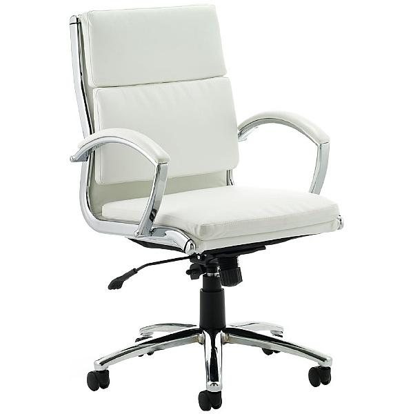Formosa Medium Back Enviro Leather Chair White