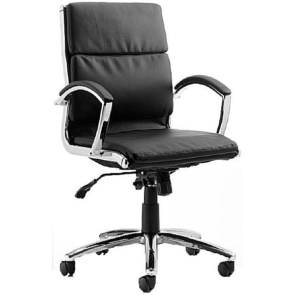 Formosa Medium Back Enviro Leather Chair Black