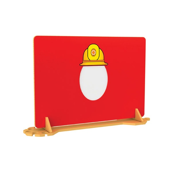 Fire Fighter Room Divider With Mirror