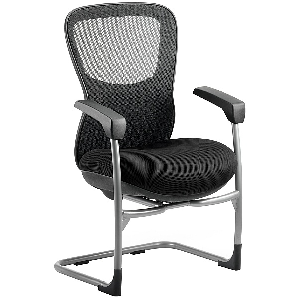 Raptor Mesh and Fabric Cantilever Chair