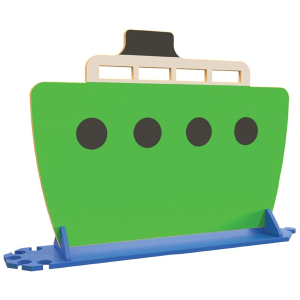 Green Boat Room Divider