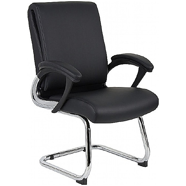 Capulet Enviro Leather Faced Cantilever Chair