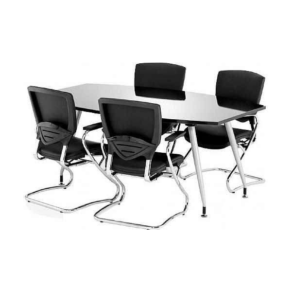 Black Lumina High Gloss Boardroom Table