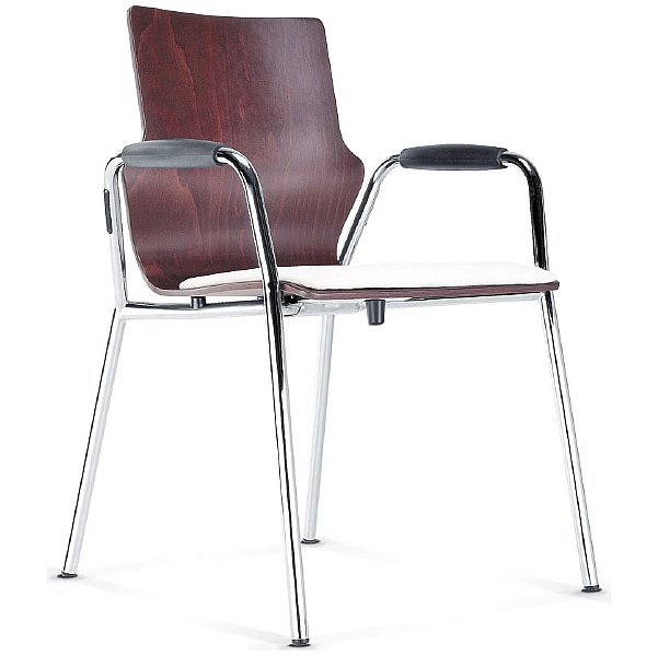 BN Leather Padded Wooden Conversa Chair