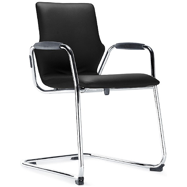 BN Leather Cantilever Conversa Chair