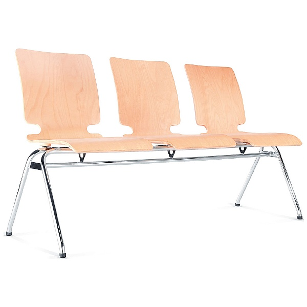 BN Axo 3 Seater Wooden Beam Seating