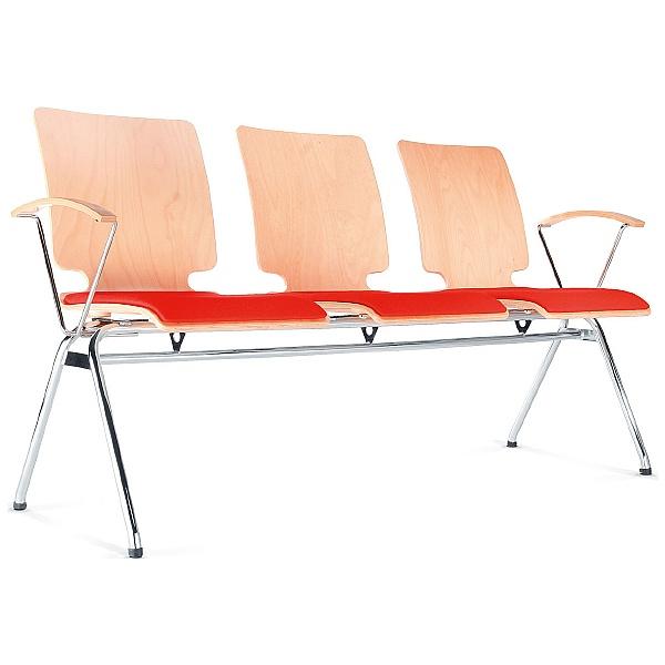 BN Axo 3 Seater Upholstered Beam Seating