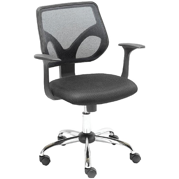 Solace Black Mesh Operator Chair