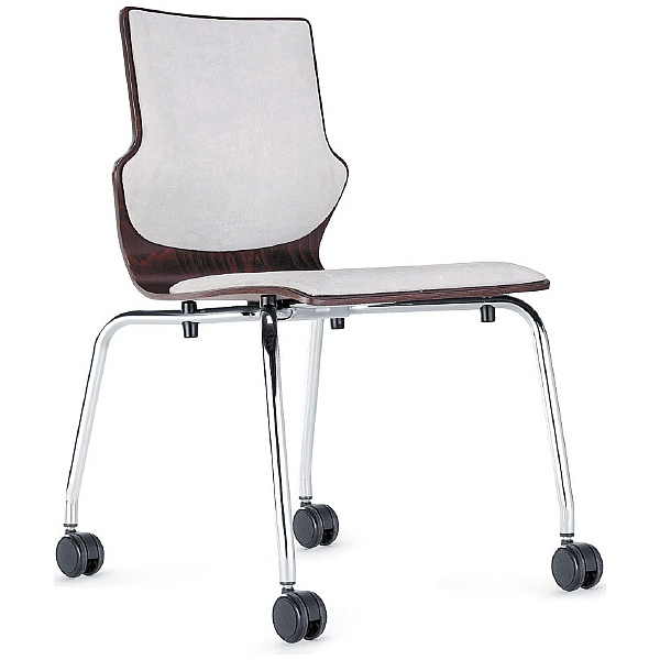 BN Conversa Upholstered Wooden Mobile 4-Leg Chair