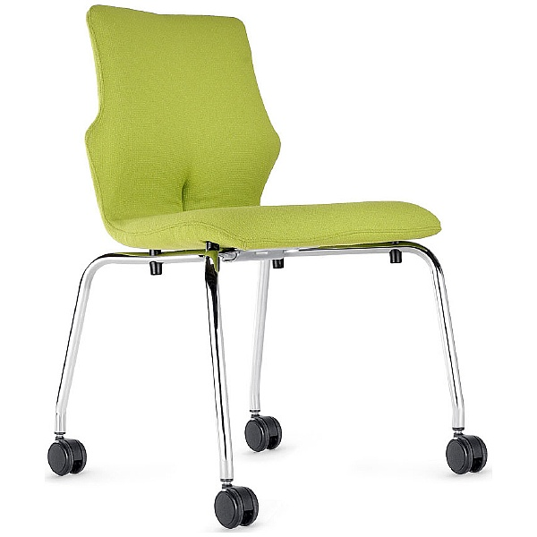 BN Conversa Fully Upholstered Mobile 4-Leg Chair