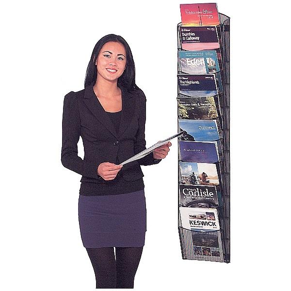 Mesh Wall Mounted Literature Dispenser