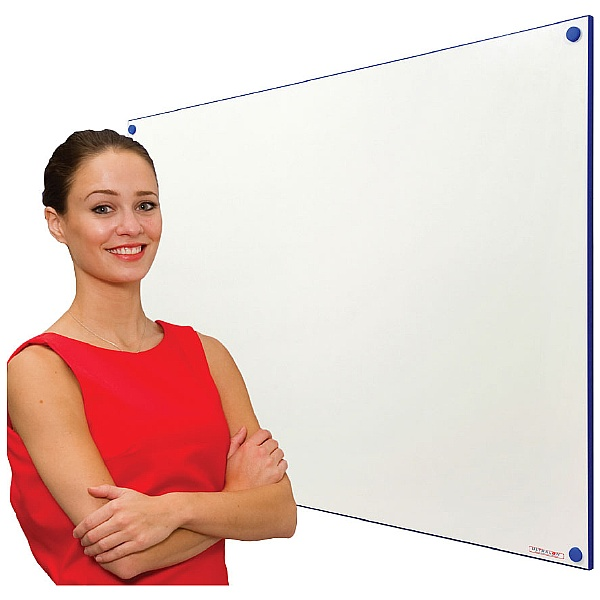Frameless Colour Edged Whiteboard
