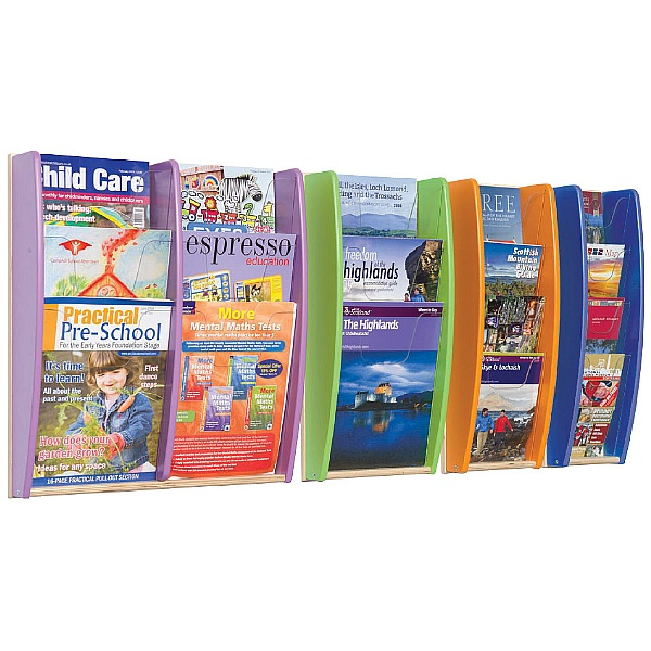 Wall Mounted Colourama Leaflet Dispenser