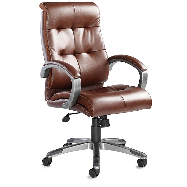 Carini Leather Faced Managers Chair