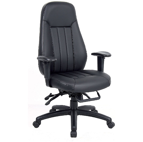 Triton 24 Hour Leather Faced Task Chair