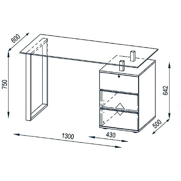 Century Glass Computer Desk