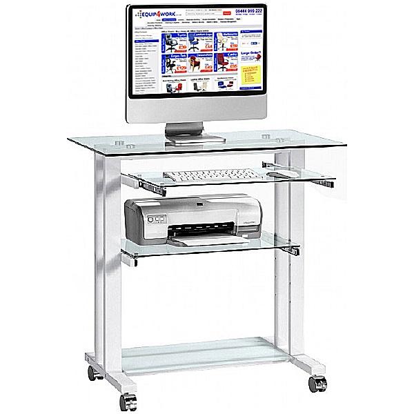 Cornice Glass Computer Desk
