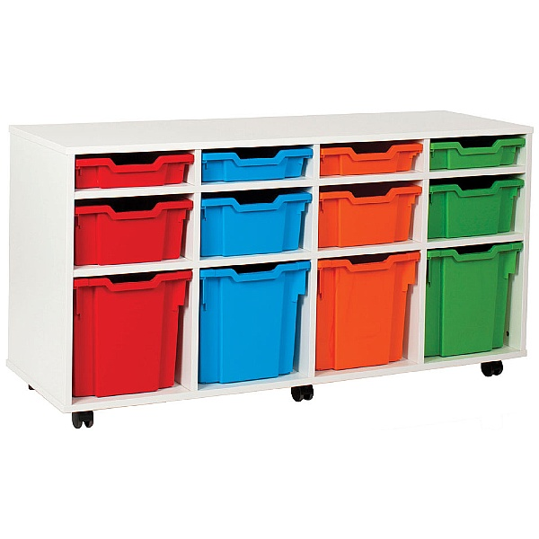 12 Tray Variety White Range Storage Unit