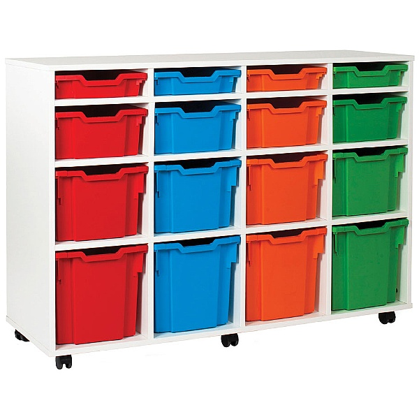 16 Tray Variety White Range Storage Unit