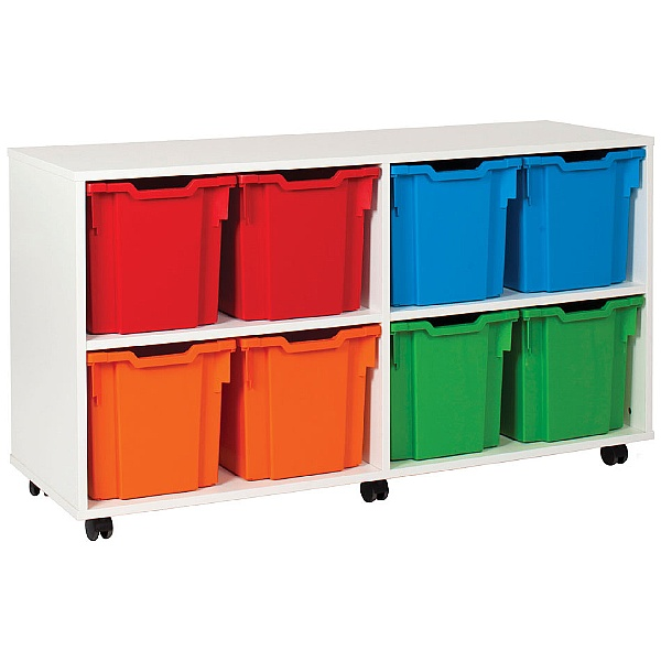 8 Tray Jumbo White Range Storage Unit