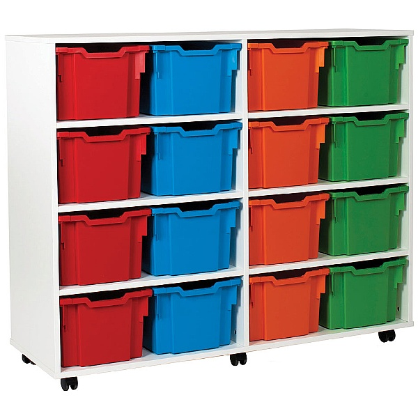 16 Extra Deep Tray White Range Storage Unit
