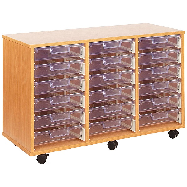 Crystal Clear 18 Shallow Tray Storage Unit