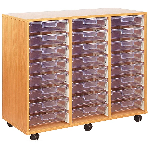 Crystal Clear 24 Shallow Tray Storage Unit