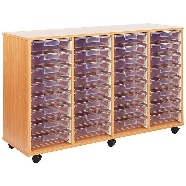 Crystal Clear 32 Shallow Tray Storage Unit