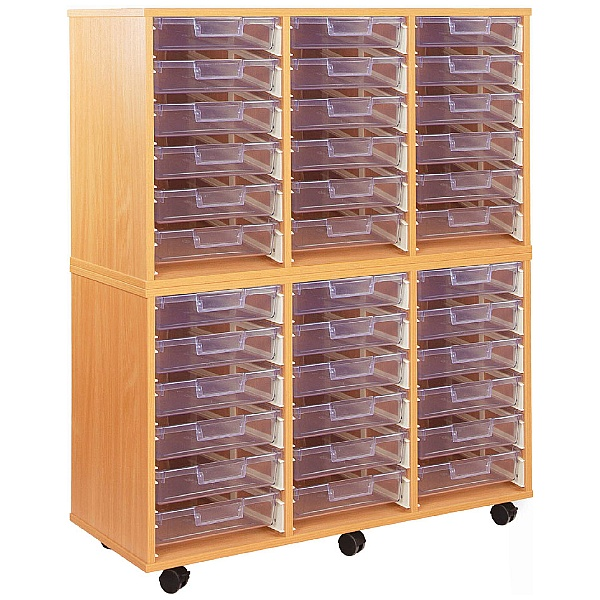 Crystal Clear 36 Shallow Tray Storage Unit