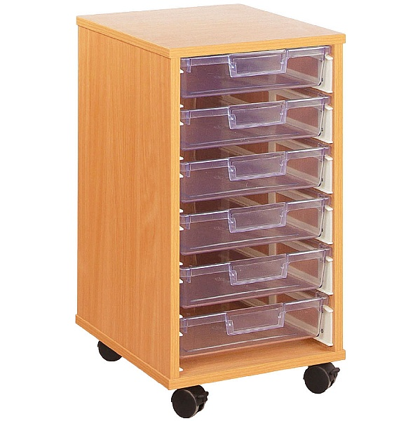 Crystal Clear 6 Shallow Tray Storage Unit