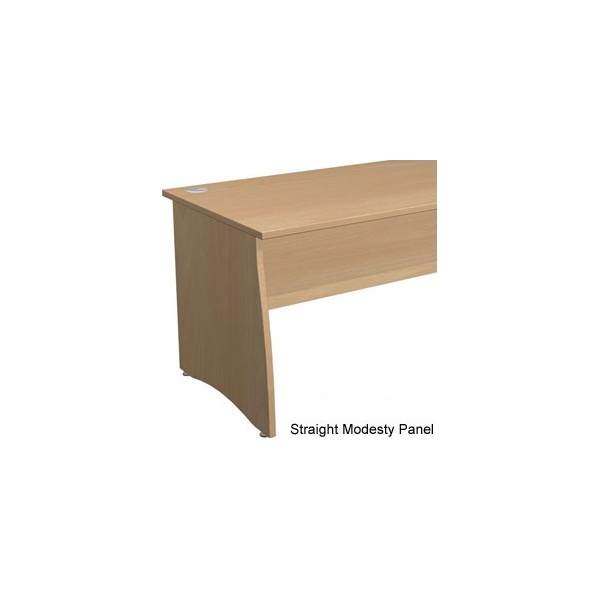 Gravity Contract Shallow Wave Panel End Desk